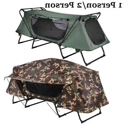 folding 1 2 person elevated camping tent