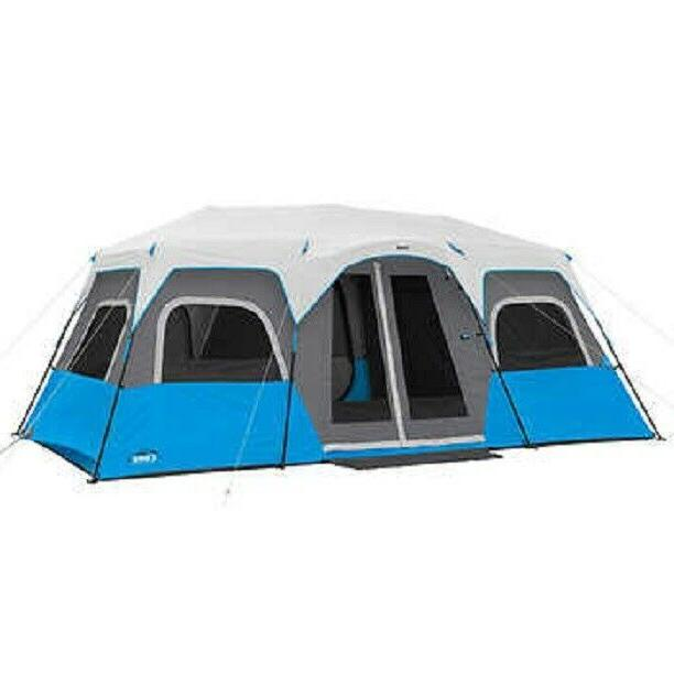 NEW CORE 12 PERSON INSTANT CABIN TENT BUILT-IN LED LIGHTING
