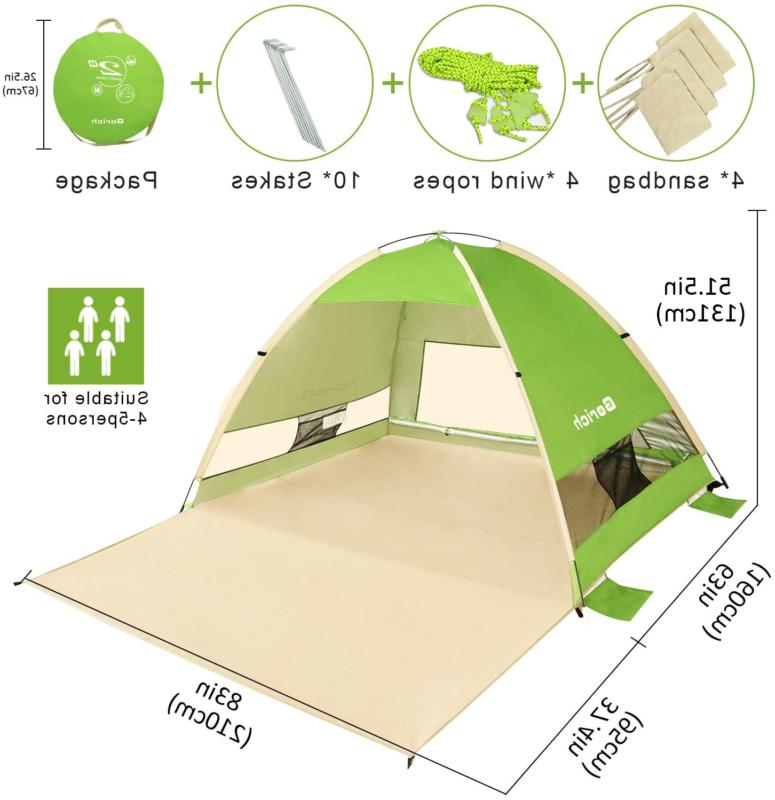 Pop Sun Shade Shelter-Outdoor Camping Fishing-Foldable