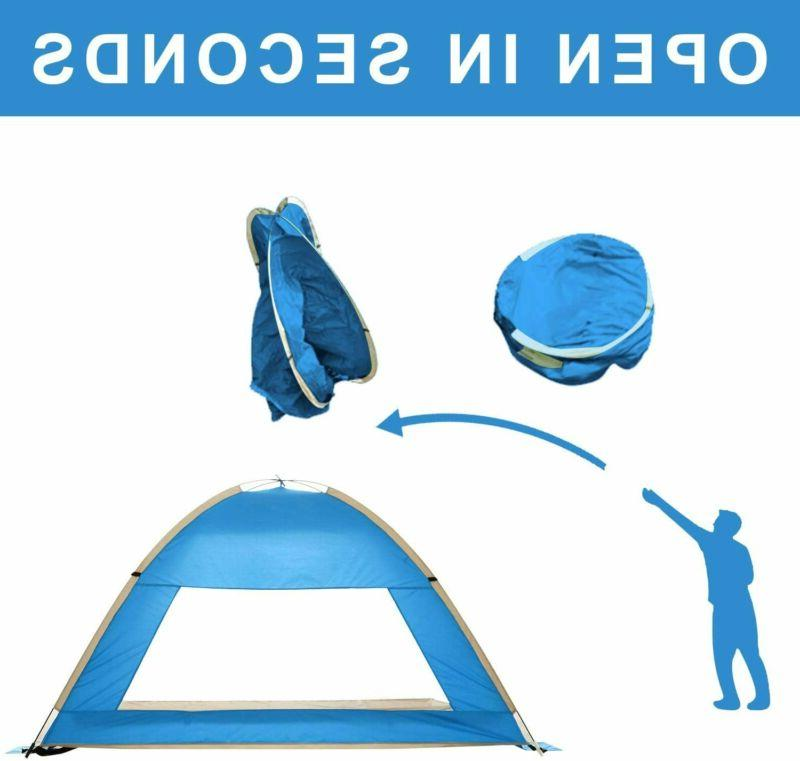 Pop Up Beach Sun Shade Camping Fishing-Foldable
