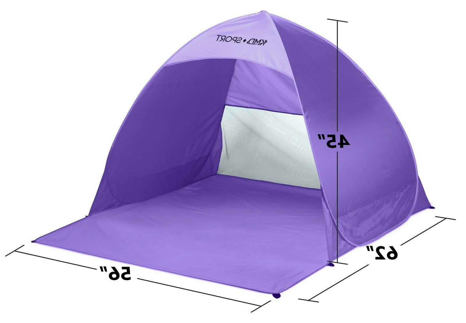 Pop Beach Tent Portable Outdoor Camping Canopy Purple