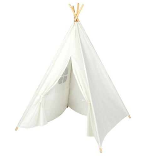 Portable House Teepee for Toddlers White