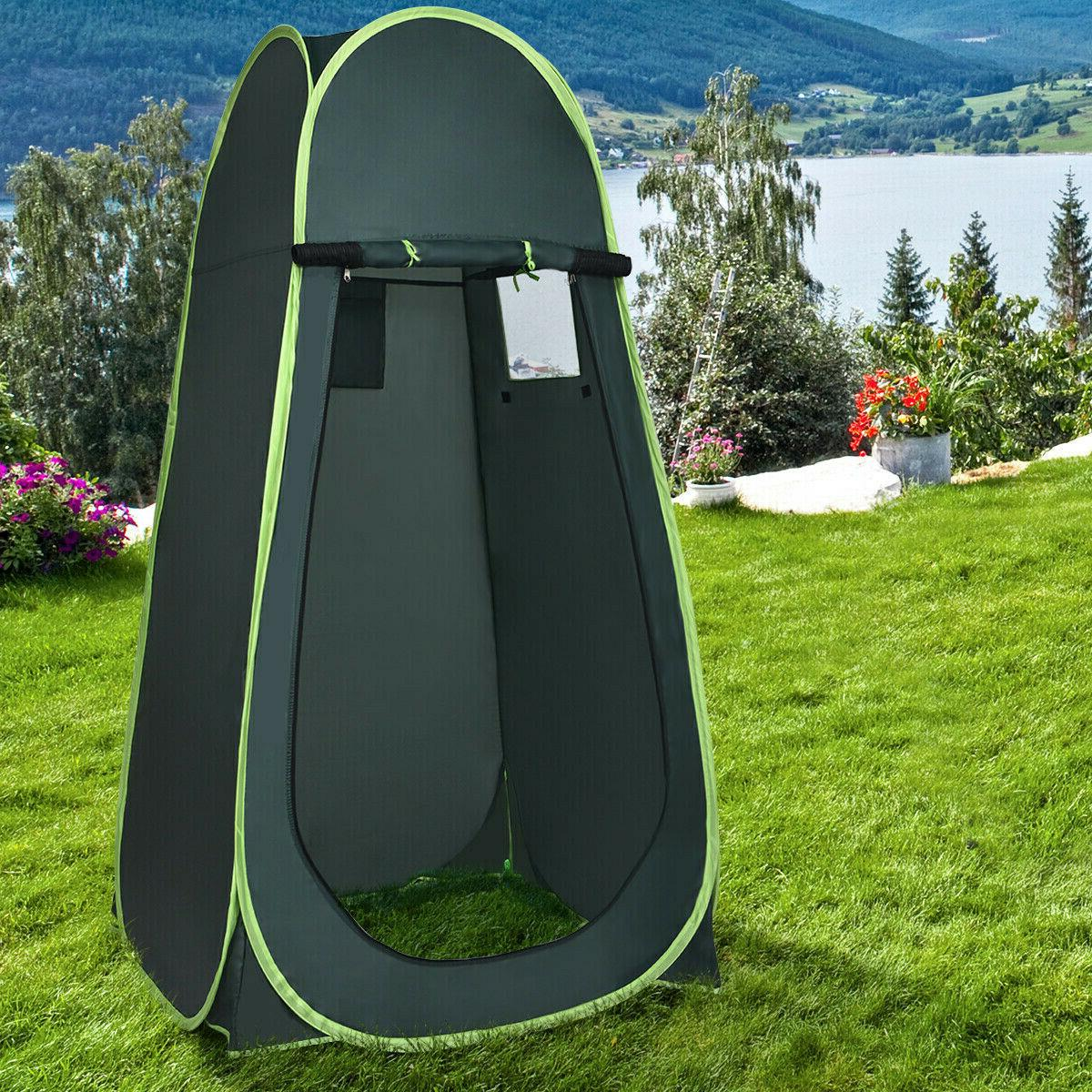 Portable Green Outdoor Up Camping Privacy