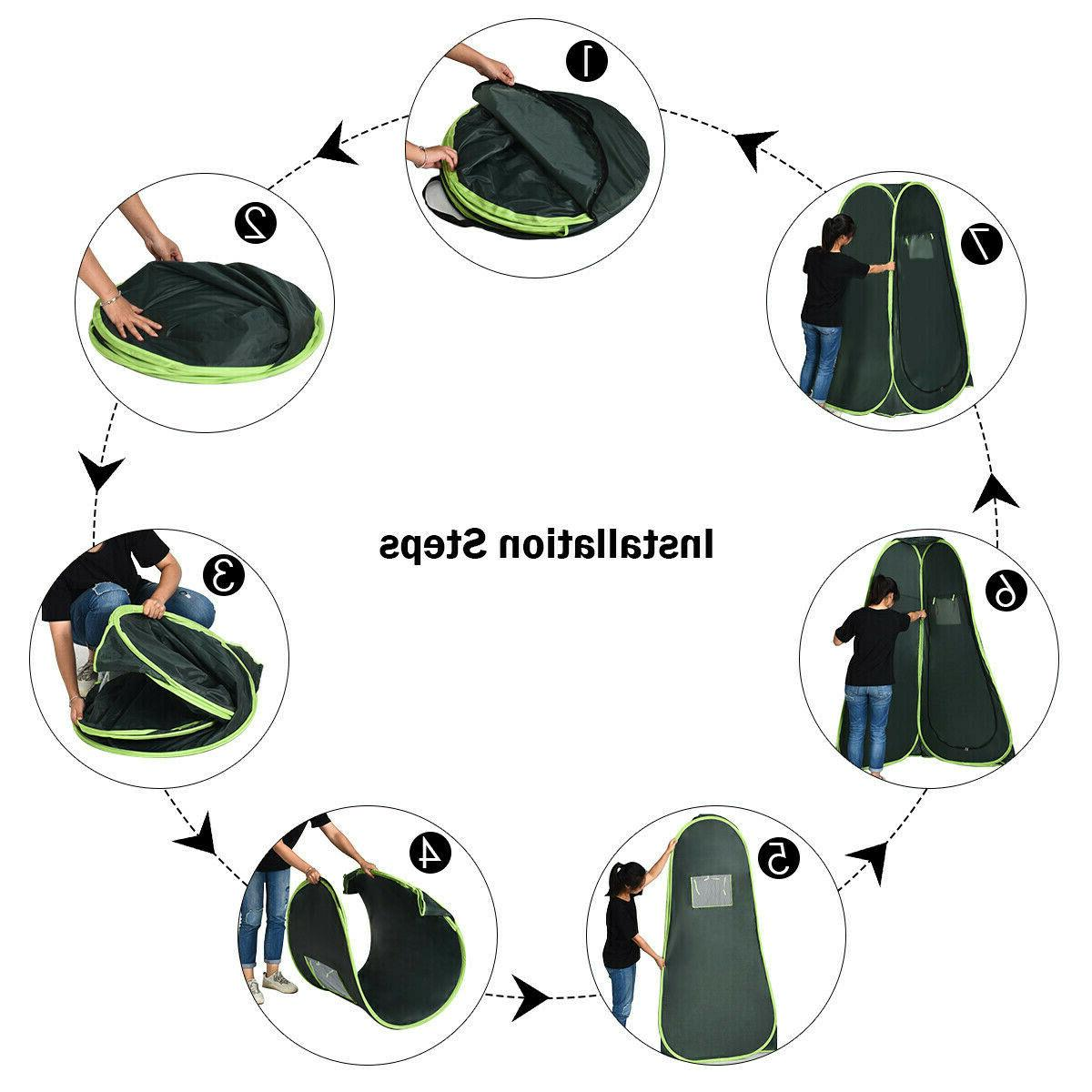 Portable Up Tent Camping Shower Privacy Toilet Changing Room