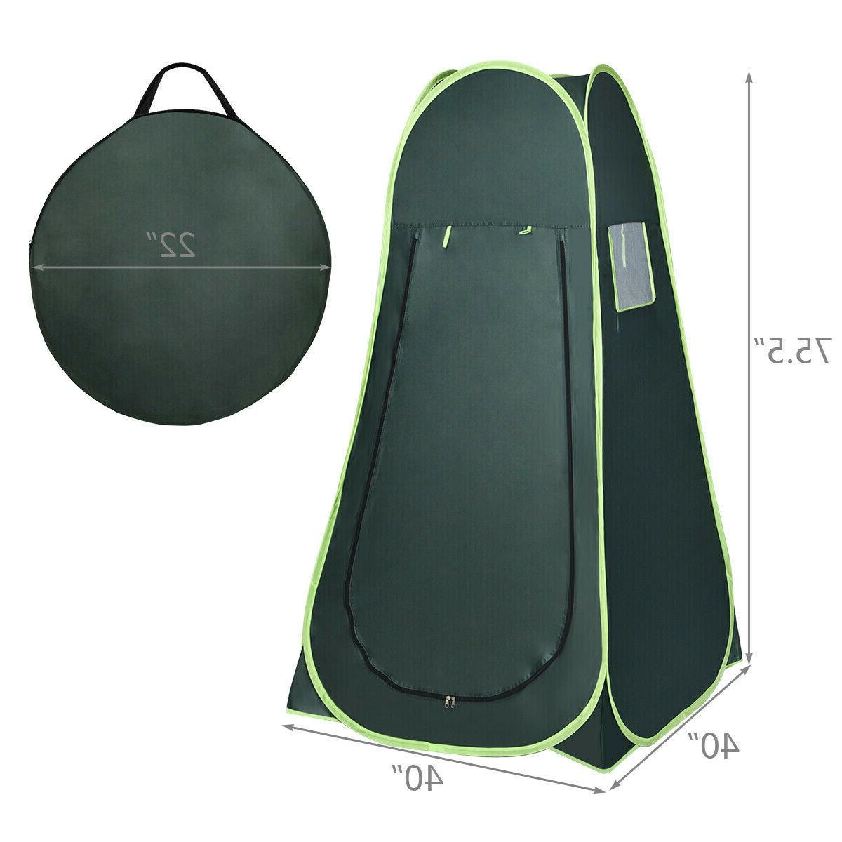 Portable Green Up Tent Camping Privacy Toilet Changing