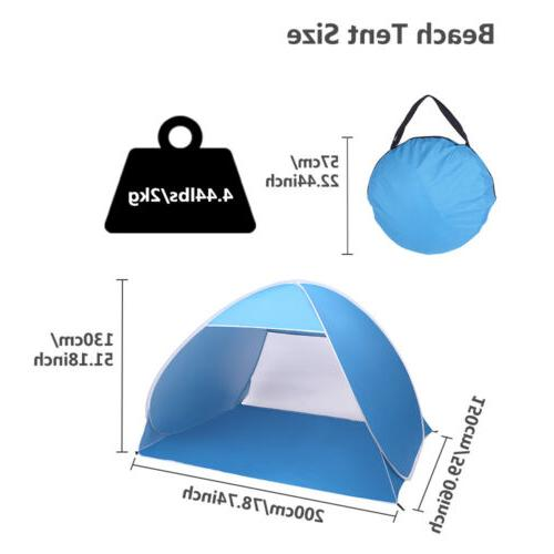 2-3 Person Pop Beach Canopy Camping Tent Shelter