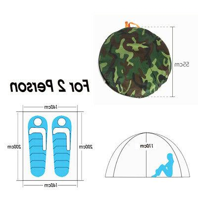 US 2-4 Person Camouflage Camping Folding Hiking