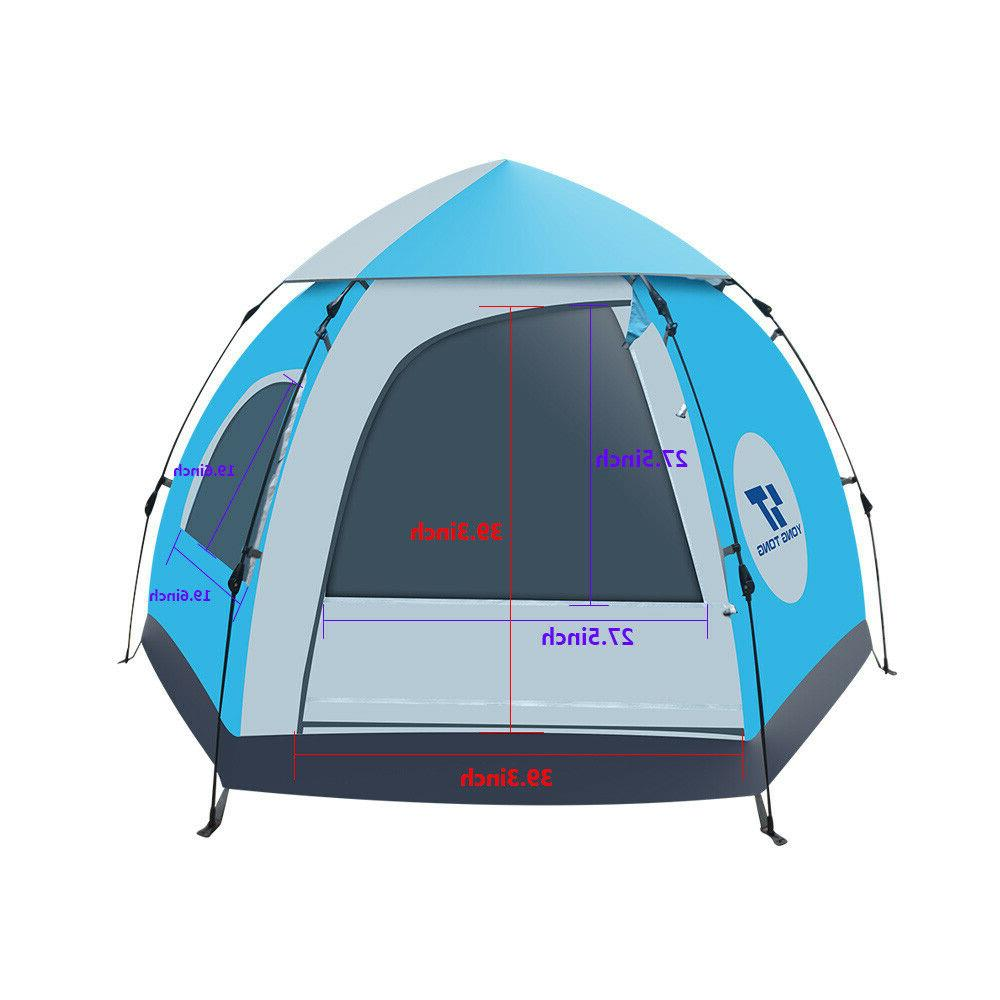 Waterproof Automatic 5-6 People Outdoor Instant Popup Tent Camping