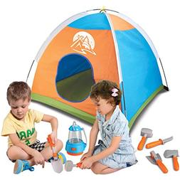Little Explorer Camping Tent and Tools Toy Gear Play Set for
