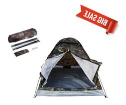 NEW 1-2 Person Outdoor Camping Waterproof 4 Season Camouflag