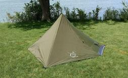 One Person Trekking Pole Tent Ultralight Backpacking Outdoor