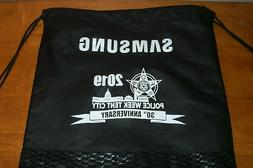 POLICE WEEK TENT CITY SAMSUNG DRAWSTRING GYM CINCH SACK BACK