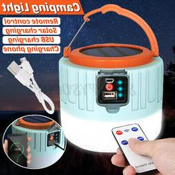 Remote Control Solar LED Camping Lantern USB Rechargeable Te