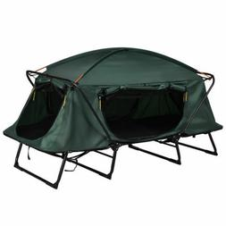 Single 1 Person Folding Camping Waterproof Tent Cot Bed Rais