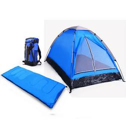 Solo Camping Gear Set: Tent, Sleeping Bag & Backpack Fire Re