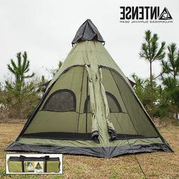 Intense Teepee Camping Tent Family Outdoor Sleeping Dome She