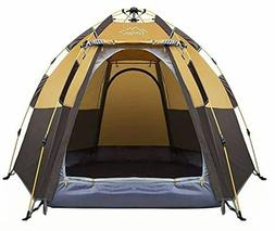 Toogh 3-4 Person Camping Tent Backpacking Tents Hexagon Wate