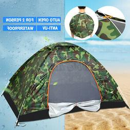 US 2-4 Person Outdoor Camouflage Camping Tent Auto Folding W