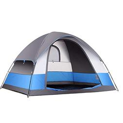 SEMOO Water Resistant Tent 3-Season 5 Person Lightweight Fam