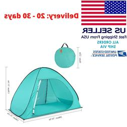 Waterproof 2-3 Person Camping Tent Automatic Pop Up Quick Sh