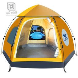 Waterproof 5-6 People Automatic Instant Pop Up  Brown Tent C