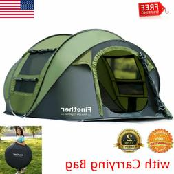 Waterproof 5-6 Person Camping Hiking Easy Folding Setup Inst
